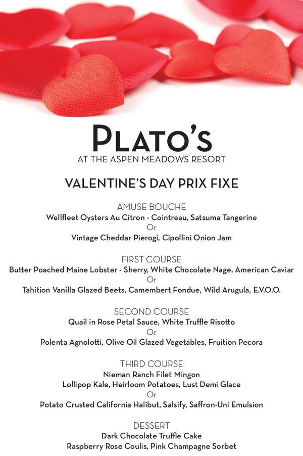 valentines menu images