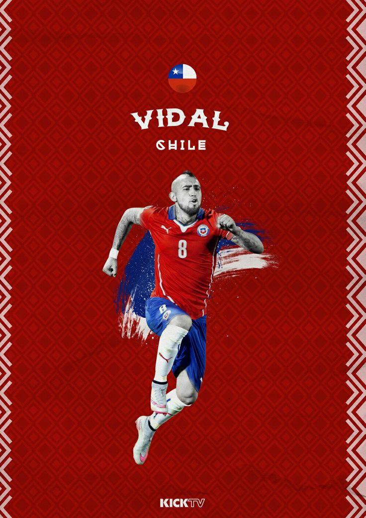Arturo Vidal of Chile wallpaper.