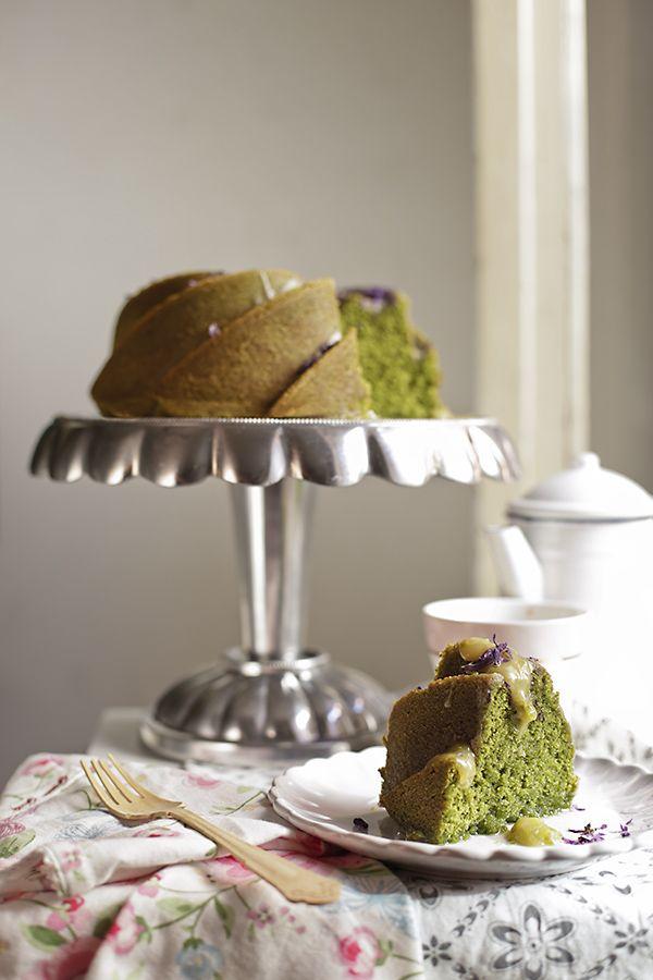bundt cake de té matcha 1