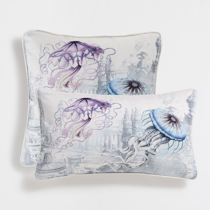 Housse de coussin coton imprimé méduses - Coussins décoratifs - Décoration | Zara Home France