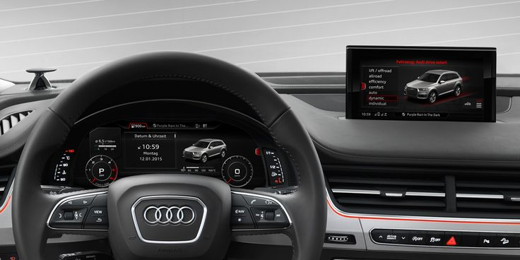 "New look, twice the technology. The new #Audi Q7 features our pioneering virtual cockpit and a 7"" central MMI screen."