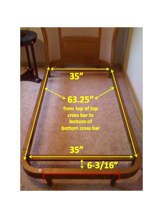 Example Of How Rocky Mountain Mattress Gets Exact Measurements For Custom Size Mattresses Antique Beds