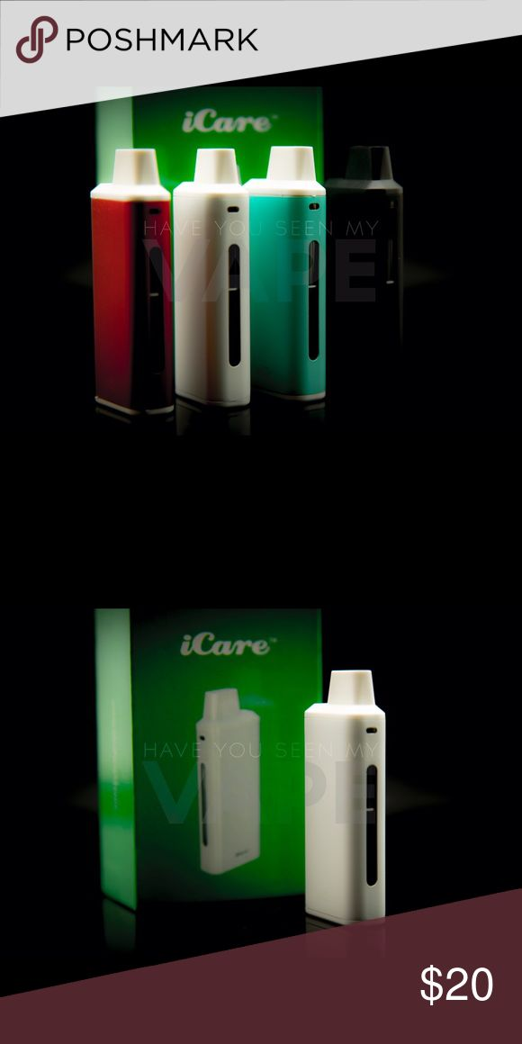 eLeaf icare Kit White 15w iCare Product Introduction: The iCare is a compact e-cigarette starter kit with an internal tank and airflow system. It is quite simple to use for the automatic On/Off feature that initiates when vaping. The e-liquid can be refil