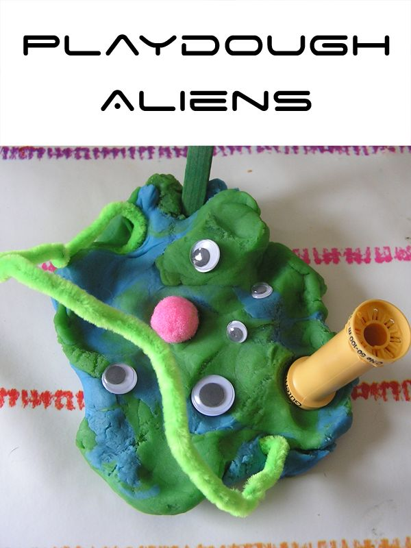 Use Googly Eyes and Pom Poms to make an Alien