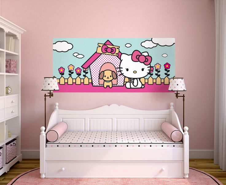 Cuttie Hello Kitty Wall Mural By WallandMore! Perfect For Your Girls Room. Part 70
