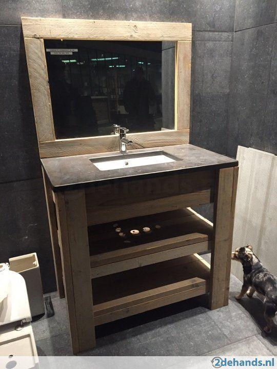 Steigerhout badkamermeubel vanaf  €275 - Te koop