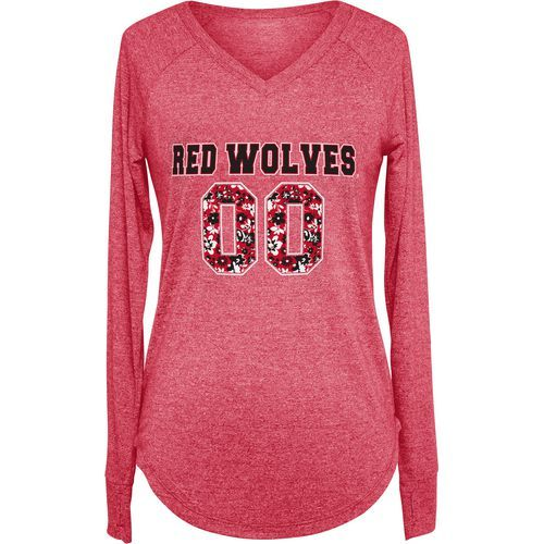 Chicka-d Women's Arkansas State University Favorite Long Sleeve T-shirt (Red, Size Small) - NCAA Licensed Product, NCAA Women's at Academy Sports