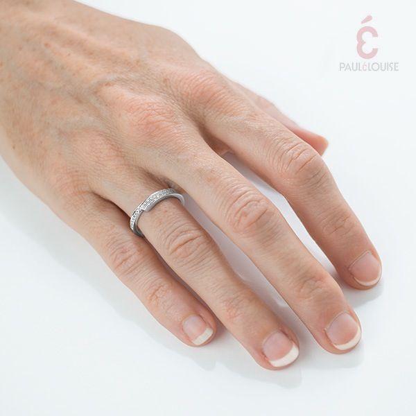 "PAULÉLOUISE — Alliance ""Gondole"" Modulable - Diamants"