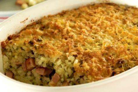 Το Ρύζι ογκρατέν με ζαμπόν και τυρί κρέμα είναι μια τελείως διαφορετική συνταγή για το ρύζι που το αγαπούν όλοι και τρώγεται ευχάριστα.
