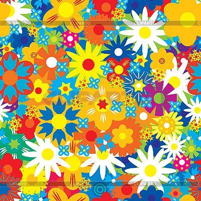 Flores de fondo inconsútil   Ilustración vectorial de stock   ID 3013526