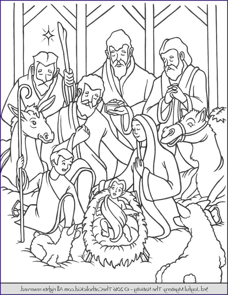 14 Beautiful Jesus Birth Coloring Pages Image in 2020 ...