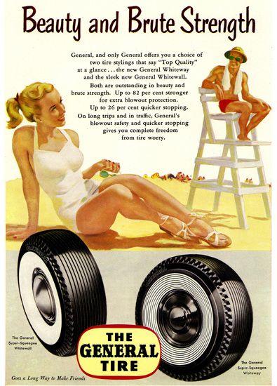 General Tire Beach Beauty Brute Strength 1952