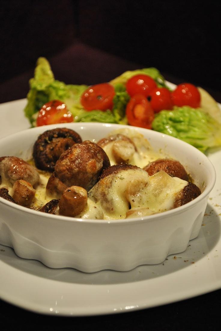 Küchenzaubereien: Antipasti-Champignons aus dem Ofen