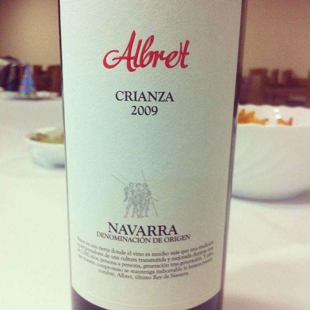 Hoy como con... Albret #crianza 2009 #tempranillo #CabernetSauvignon #Merlot #Caparroso #Cadreita #Navarra #Vino #wine #Padgram