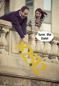 Why not get a little silly with your save the dates! + 17 Creative & Fun Wedding Ideas