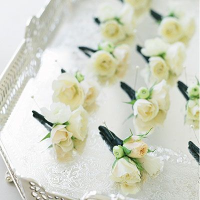 Boutonnieres - Charming Coastal Wedding - Southern Living