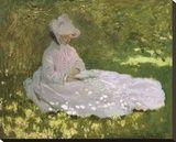 Claude Monet - Springtime, 1872 Reprodukce na plátně