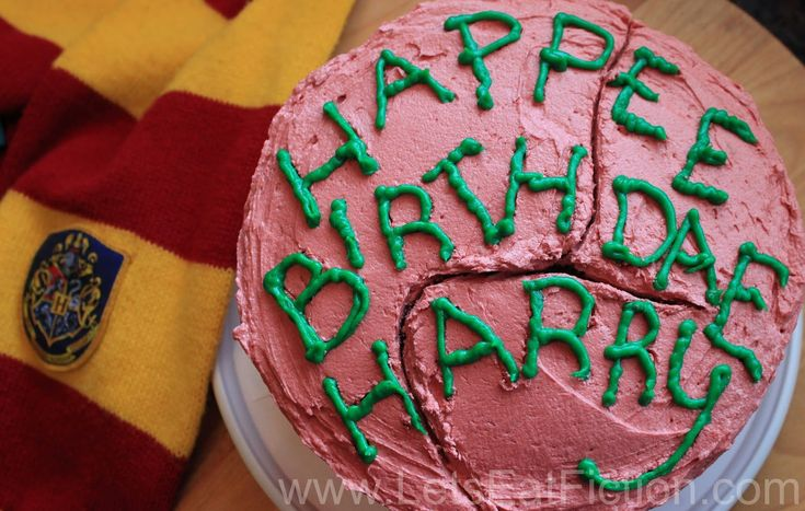 Let's Eat Fiction!: Hagrid's Birthday Cake for Harry (Harry Potter and the Sorcerer's Stone)