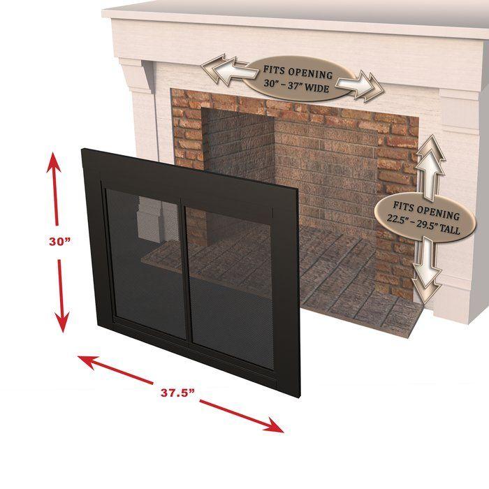 Ascot Bifold Style Steel Fireplace Doors Fireplace Doors Glass Fireplace Fireplace Glass Doors