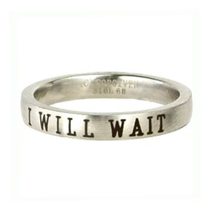 I Will Wait Ring - I love this purity ring! I can't wait to get a purity ring of my own.