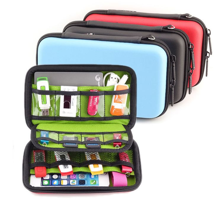 Waterproof USB Cable Storage Bag Organizer Hard Drive Earphone Flash Drives Digital Gadget Devices Organizador Bags Case