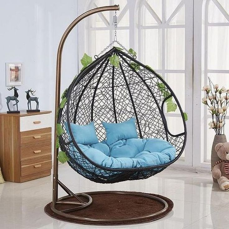 20 cozy and beautiful indoor swing chairs ideas hanging