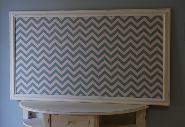 DIY Push Pin Board, I like the colors of this for our home too!