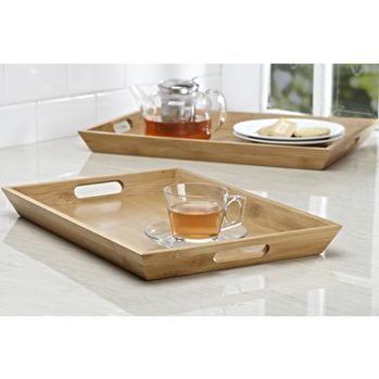 Ksp Tablet Serving Tray Set/2 32 X 46 / 30 X 43 Cm Natural   Kitchen Stuff Plus
