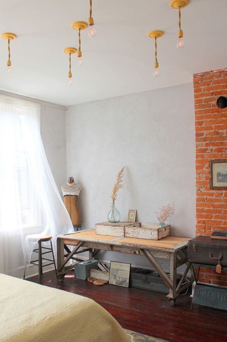 Bedroom:Cheery Vintage Scandinavian Bedroom With Shabby Wood Table And Brick Wall Vintage Bedroom Furniture Sets With Cheap Price and Great Deals