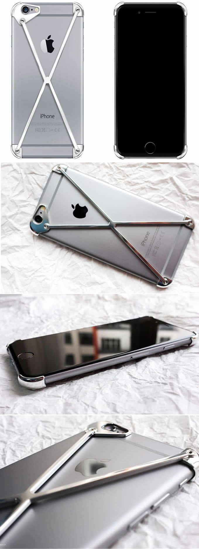 Aluminum Bumper Frame Case for iPhone iPhone 6/6 Plus/6S/6S Plus SIlver