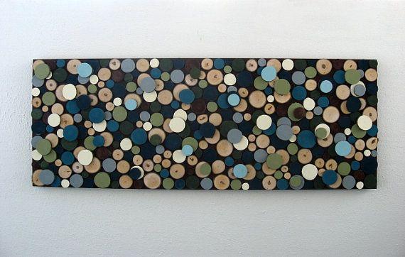 Cercles bois Art mural-rondelles de bois par ModernRusticArt