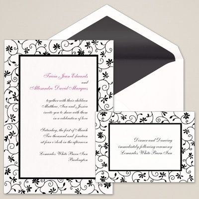13 best birthday invitations images on pinterest birthday a delicate flower and vine border frame your wedding invitation wording on this bright white heavy weight card stopboris Choice Image