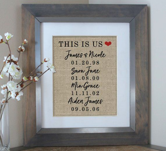 Christmas Gift Husband Gift for Wife This Is Us Sign Wife Gift