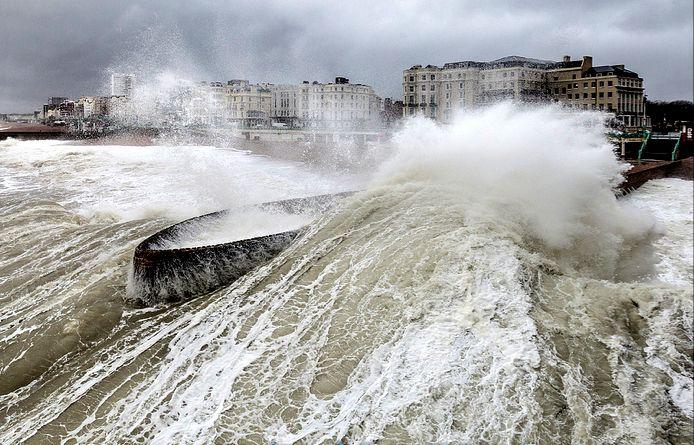 Crashing Waves, Brighton Seafront Storm October 2013