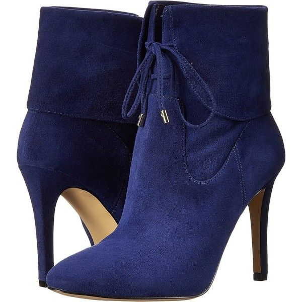 GUESS Declan Women's Lace-up Boots, Blue ($90) ❤ liked on Polyvore featuring shoes, boots, blue, suede boots, blue ankle boots, lace-up ankle boots, lace up bootie and slip on boots