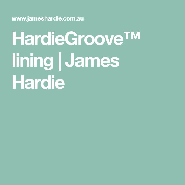 Option for laundry walls - HardieGroove™ lining   James Hardie