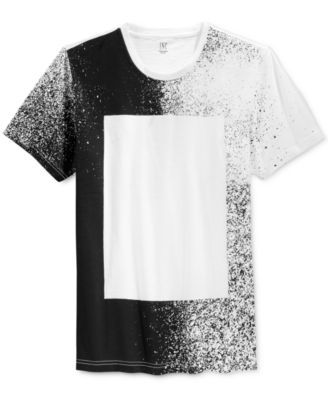 INC International Concepts Men's Block Splatter-Print T-Shirt, Only at Macy's  $10.99 Offering a modern addition to your warm-weather wardrobe, this T-shirt from INC International Concepts features a classic crew neckline and a splatter-print pattern with a blocked square at the center.