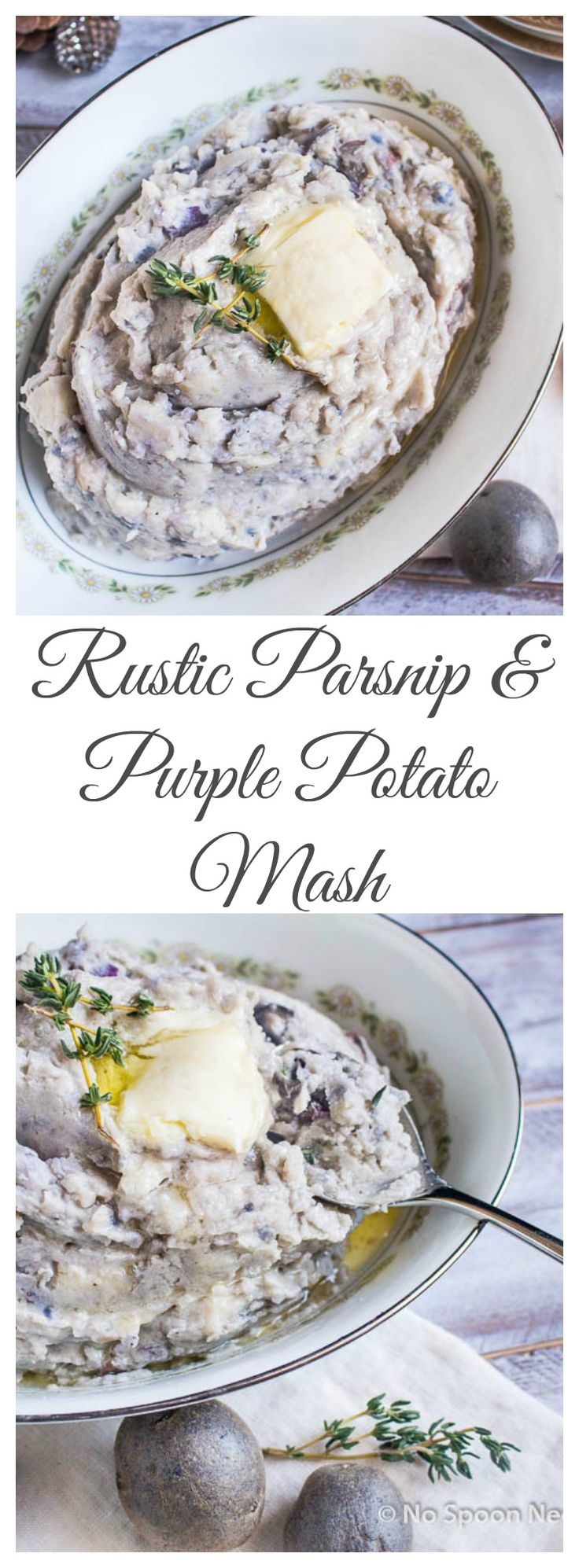 Rustic Parsnip & Purple Potato Mash - Add Something Uniquely Delicious to Your Holiday Table!