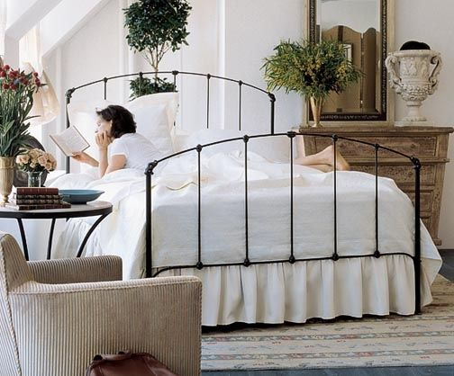 $700 Charles P. Rogers Beds Direct Rutherford Bed - Hand-forged iron with decorative castings. Our Rutherford bed is still made by hand as it was over a century ago. Stock finishes are black iron with gilded highlights or antique white finish. Queen bed pictured.