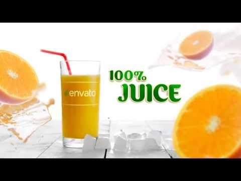 "After effects intro template ""Juice Opener"""