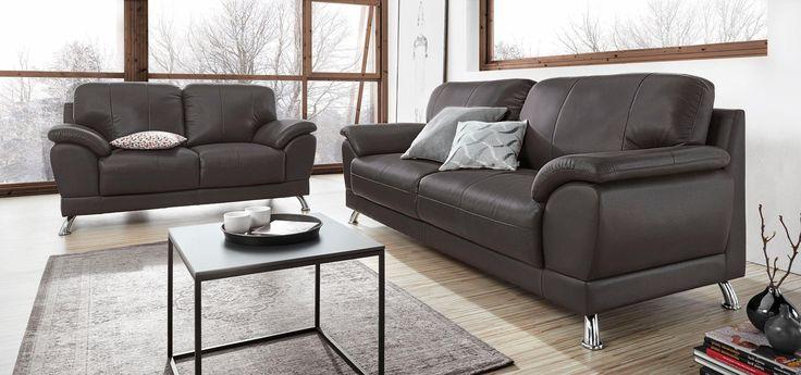 Garnitur Braun Set 2 Und 3 Sitzer FSCR Zertifiziert Yourhome Jetzt Bestellen Unter Moebelladendirektde Wohnzimmer Sofas