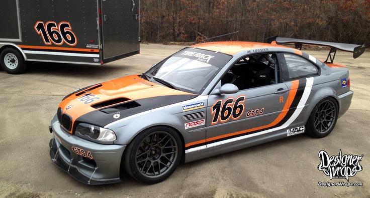 BMW  Trailer Racing Graphics BMW M Race Car  Trailer - Racing car decals design