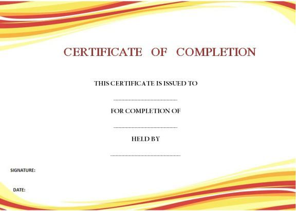 55 Best Certificate Of Completion Templates Images On Pinterest