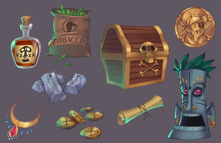 Pirate Game: Props by GhostHause on deviantART