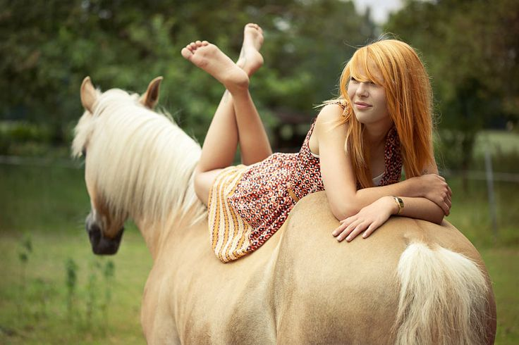 On the back of a horse. by Jan Leschke Photography #horse #outdoor #red
