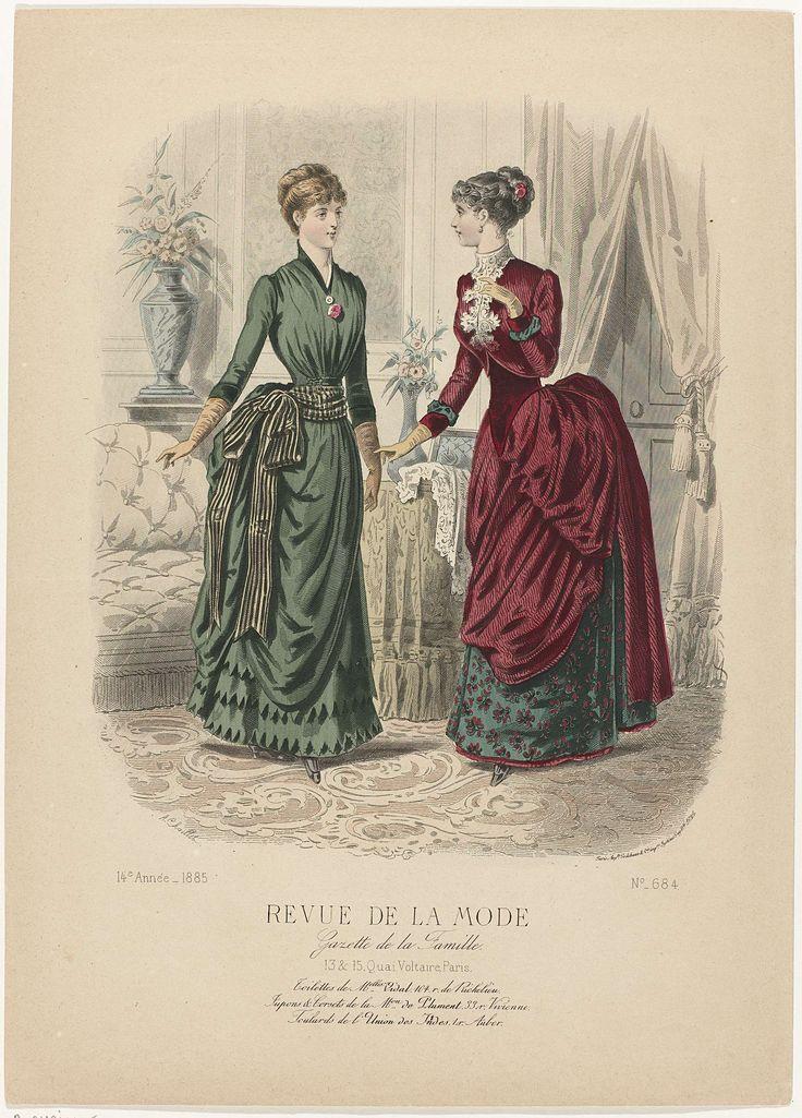 Revue de la Mode, Gazette de la Famille, dimanche 8 février 1885, 14e Année, No. 684 : Toilettes de M.elles Vidal