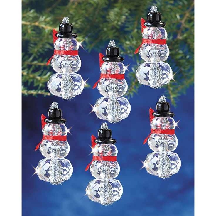 "Holiday Beaded Ornament Kit-Faceted Elegant Snowmen 2""X1"" Makes 12 (Faceted Elegant Snowmen 2""X1"" Makes 12)"