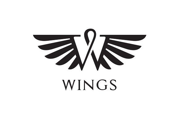 Wings Logo by exe design on @Graphicsauthor