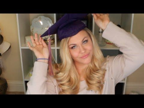▶ Graduation Hair and Makeup Tutorial - YouTube