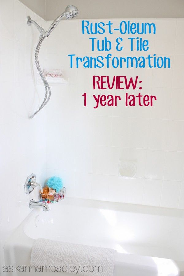 Video review of the Rust-Oleum Tub & Tile Kit, 1 year later - Ask Anna